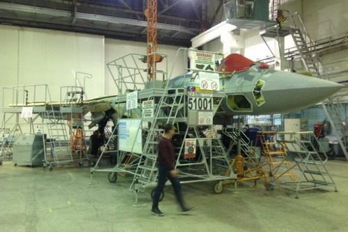 Chiếc Su-57 sản xuất hàng loạt đầu tiên đã rơi ngay trong chuyến bay thử nghiệm. Ảnh: Lenta.