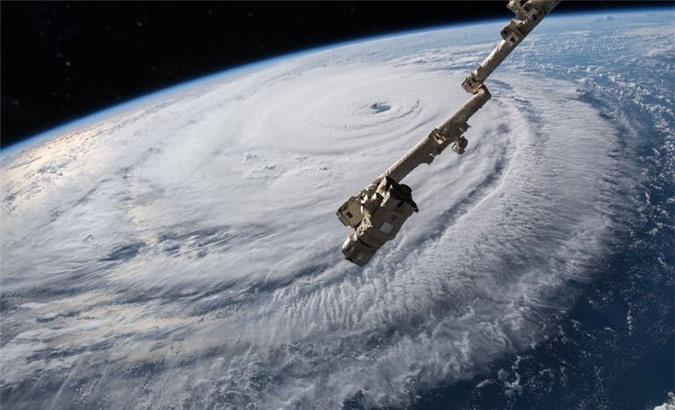 Hình ảnh chụp từ vệ tinh của bão Florence năm 2018.