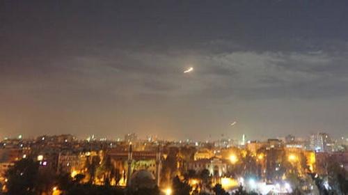 Israel đã tiến hành loạt vụ tấn công vào lãnh thổ Syria. Ảnh: Al Masdar News.