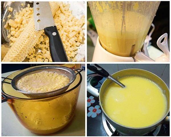 Cách làm sữa ngô thơm ngon ngọt lịm
