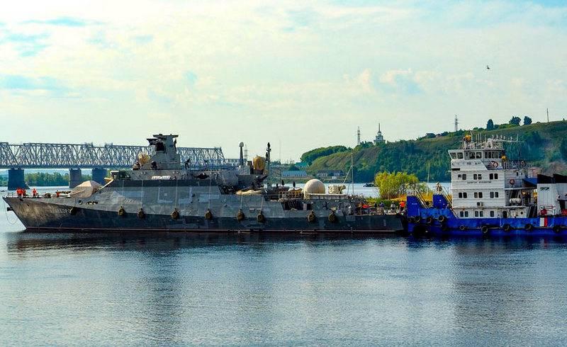 Tàu hộ vệ tên lửa Graivoron lớp Buyan-M. Ảnh: RIA Novosti.