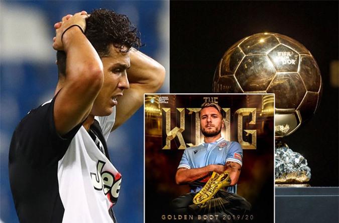 Ronaldo cũng để thua Immobile ở danh hiệu Chiếc giày vàng trong khi giải Quả bóng vàng 2020 đã bị hủy bỏ