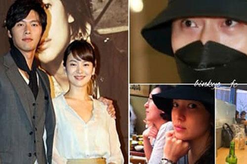 Song Hye Kyo và Hyun Bin đội mũ đôi, hẹn hò trong đêm và dùng chung vệ sĩ?