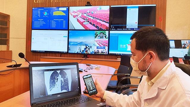 Giới thiệu phần mềm nền tảng hỗ trợ tư vấn khám, chữa bệnh từ xa tại Bệnh viện Đại học Y Hà Nội. (Ảnh: Internet)