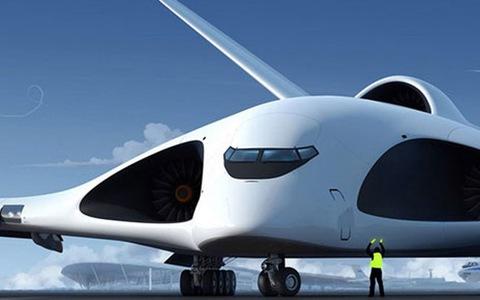 Đồ họa máy bay vận tải quân sự tương lai PAK VTA của Nga. Ảnh: TASS.