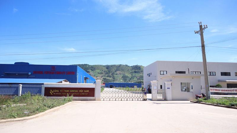 Trụ sở Công ty TNHH Sunfeel Việt Nam tại khu công nghiệp Phú hội, huyện Đức Trọng, tỉnh Lâm Đồng.