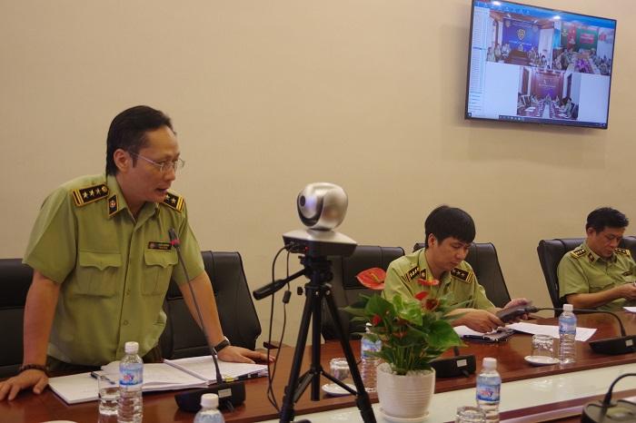 Đ/c Kiều Dương, Phó Vụ trưởng Vụ Chính sách - Pháp chế phát biểu tại Hội nghị
