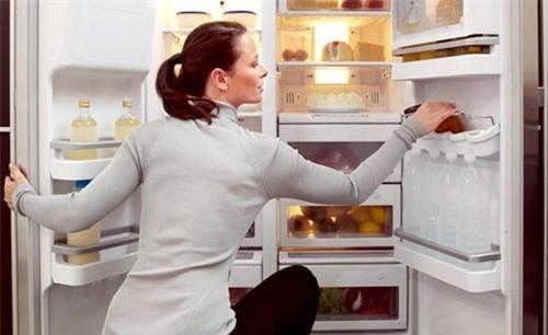 Bạn phải tắt nguồn điện trước khi thực hiện vệ sinh và xả đá trong tủ lạnh.