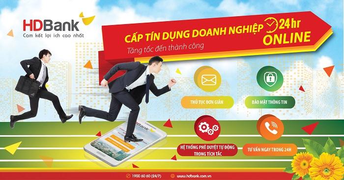 Doanh nghiệp được vay tín dụng online 24/7 tại HDBank