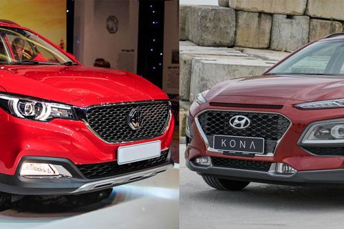 So sánh MG ZS Luxury với Hyundai Kona 1.6: Chọn tân binh hay trùm phân khúc?