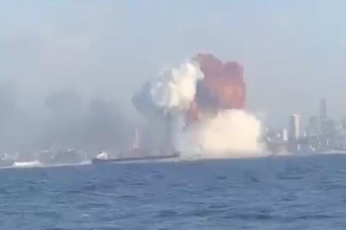 Vụ nổ nếu tên lửa đánh trúng kho amoni nitrat lưu trữ tại cảng Odessa sẽ cực kỳ khủng khiếp. Ảnh: Topwar.