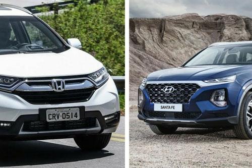 So sánh bộ ba Honda CR-V, Hyundai SantaFe và Mazda CX-5