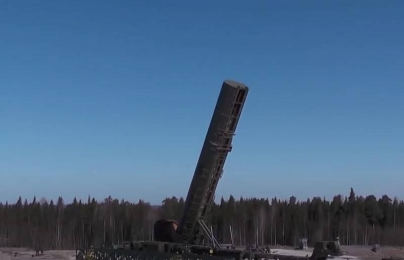 Tên lửa đạn đạo liên lục địa RS-28 Sarmat của Nga. Ảnh: Topwar.