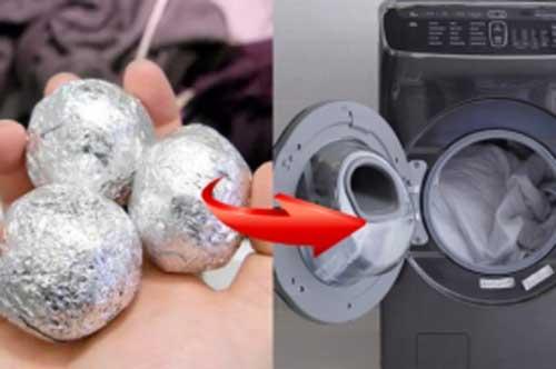 Vo viên giấy bạc rồi ném vào máy giặt, bạn sẽ tiếc vì không biết mẹo này sớm hơn