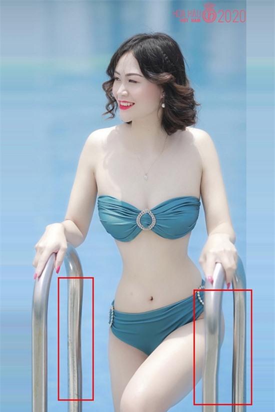 Bức ảnh lộ rõ photoshop của Hà Thị Hiền.
