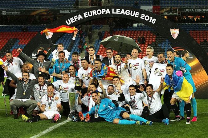 Sevilla là đội bóng vô địch Europa League nhiều lần nhất (5 lần)