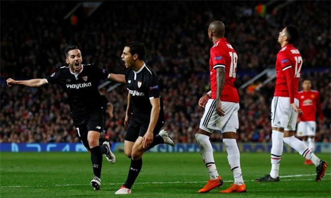 Sevilla từng loại M.U tại vòng 1/8 Champions League 2017/18