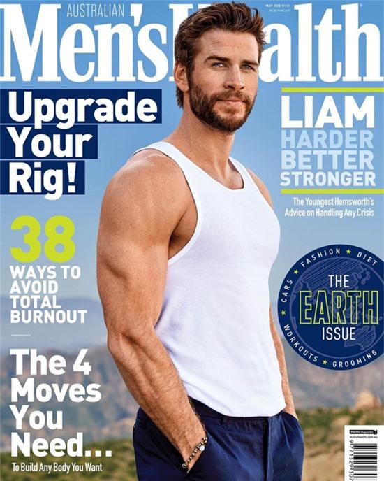 Liam xuất hiện nóng bỏng trên tạp chí Men's Health tháng 4/2020, tiết lộ rằng anh đã tái thiết cuộc sống mới ở Australia.
