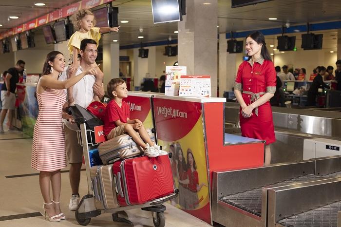 Vietjet miễn phí hành lý ký gửi trên tất cả các chặng bay nội địa.