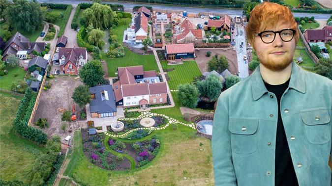 Biệt thự kiểu trang trại của Ed Sheeran ở Suffolk.