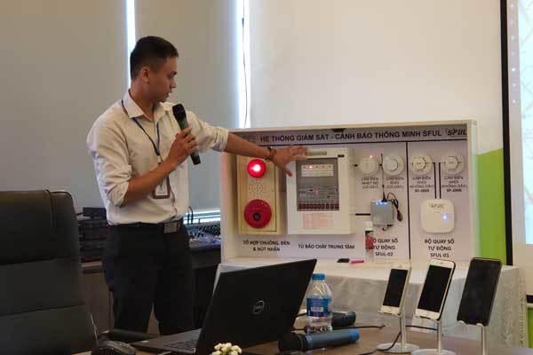 """Hệ thống giải pháp """"IoT-PCCC"""" được các kỹ sư Mobifone Global, cùng các chuyên gia trong lĩnh vực PCCC nghiên cứu và thiết kế với các cấu phần kết nối thông qua giải pháp IoT"""
