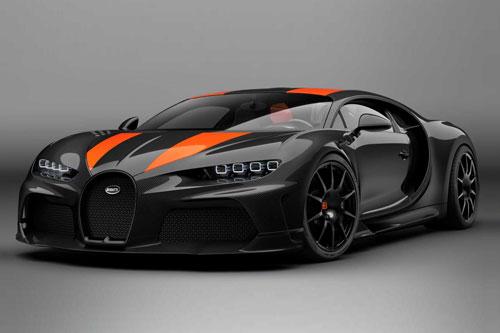 1. Bugatti Chiron SuperSport (vận tốc tối đa: 490 km/h).
