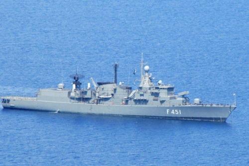Tàu hải quân Thổ Nhĩ Kỳ đụng độ với Hy Lạp