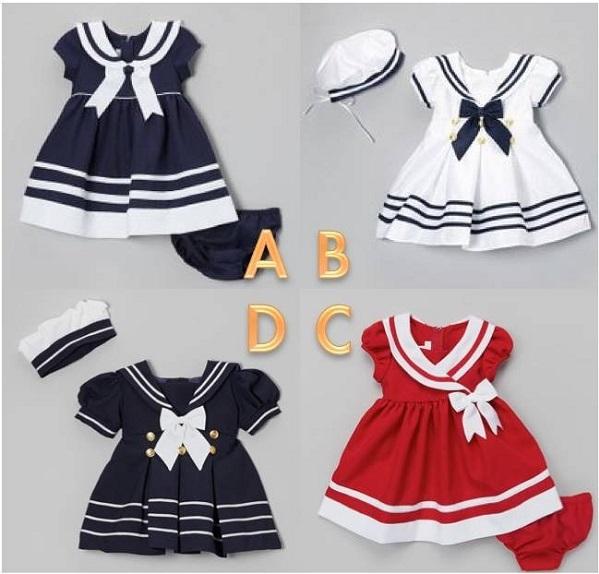 Theo bạn bộ váy bé gái nào đẹp nhất?