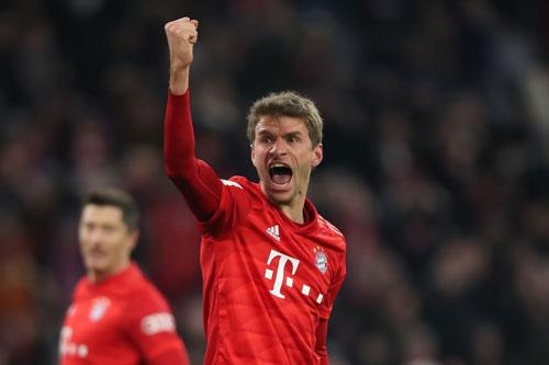 Tiền vệ tấn công: Thomas Muller (Bayern Munich).