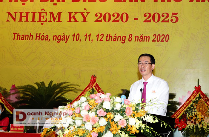 Trịnh Tuấn Sinh tái đắc cử Bí thư Đảng ủy Khối Cơ quan và Doanh nghiệp tỉnh Thanh Hoá, nhiệm kỳ 2020-2025.