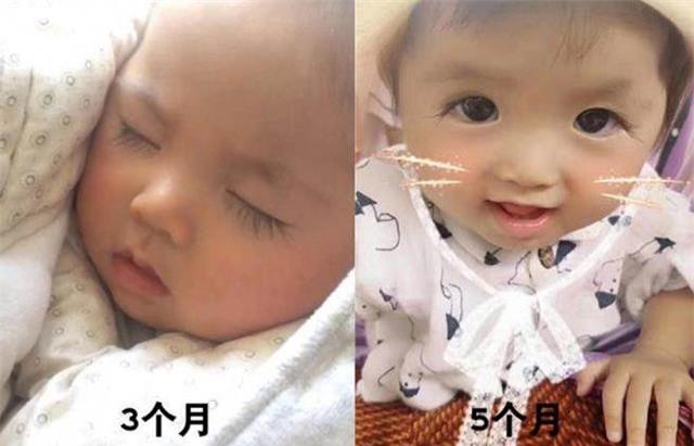 Lông mi của Niu Niu bắt đầu dài ra từ lúc 3 tháng tuổi. Đến lúc 5 tháng tuổi, lông mi của bé đã dài gấp 3 lần những đứa trẻ khác.