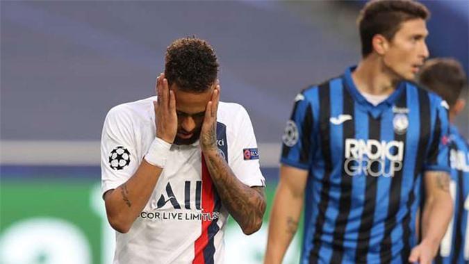 Neymar bỏ lỡ khá nhiều cơ hội ngon ăn ở trận đấu với Atalanta