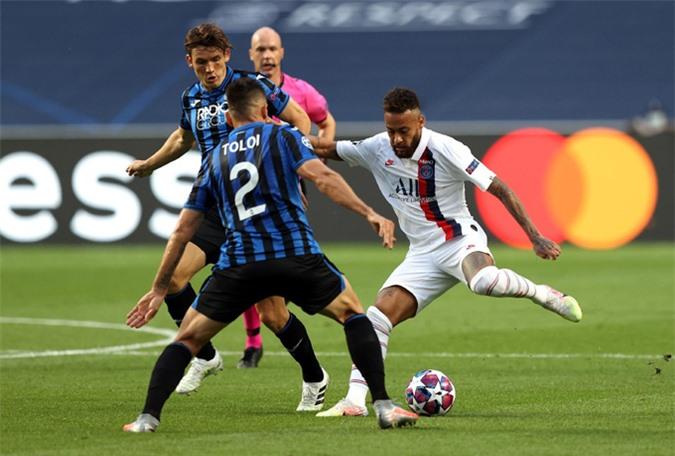 Neymar đã chơi hay nhưng bỏ lỡ nhiều cơ hội ngon ăn trước Atalanta