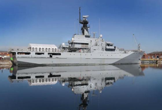 Tàu tuần tra P-284 Clyde lớp River-1 đã được Anh bán lại cho Bahrain. Ảnh: TsAMTO.