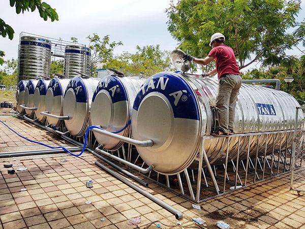 Hệ thống xử lý nước thải do Công ty CP Môi trường Huy Hoàng Eco hỗ trợ BVDC Tiên Sơn đã được lắp đặt cơ bản hoàn tất