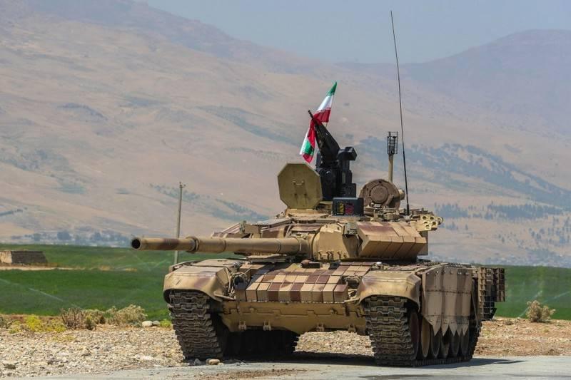 Xe tăng chiến đấu chủ lực T-72S nâng cấp của Iran. Ảnh: bmpd.