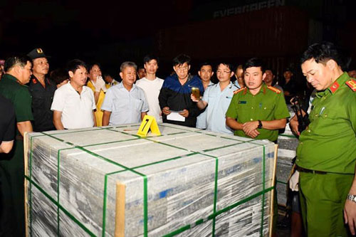 TP.HCM: Tạm giữ 5 đối tượng trong đường dây 40kg ma túy giấu trong đá xây dựng