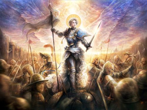 Tranh vẽ hình tượng Jeanne d'Arc. Ảnh: Wikimedia Commons