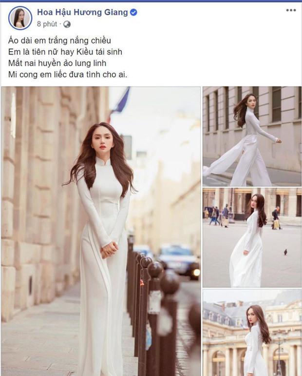 Hương Giang đã thu hút đông đảo sự chú ý khi đăng tải loạt ảnh diện áo dài đẹp nền nã khiến fan trầm trồ.