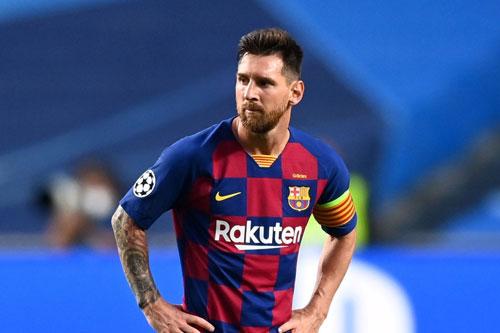 Messi thi đấu nhạt nhoà trước Bayern. Ảnh: Getty.
