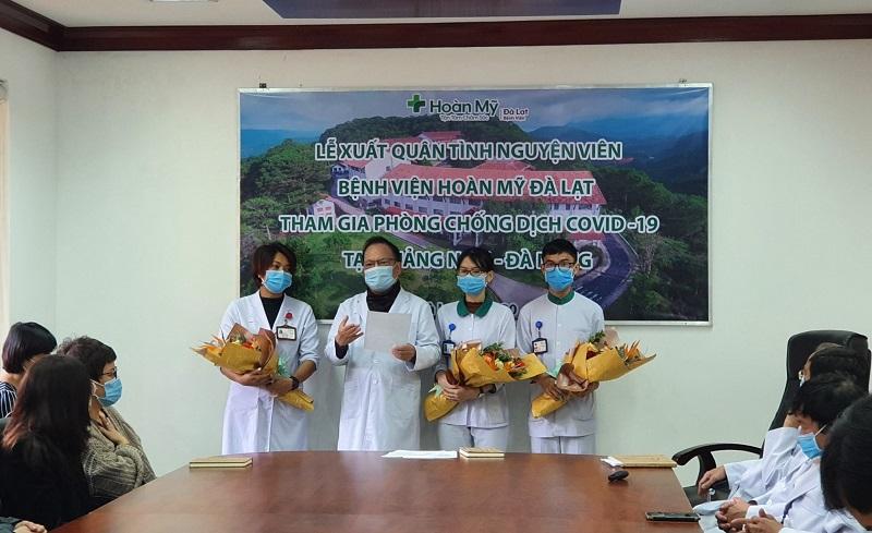 Bác sĩ Nguyễn Xuân Vinh, Giám đốc Bệnh viện đa khoa Hoàn Mỹ Đà Lạt chia sẻ sự tự hào và tri ân tấm lòng thiện nguyện của các y, bác sĩ tình nguyện.