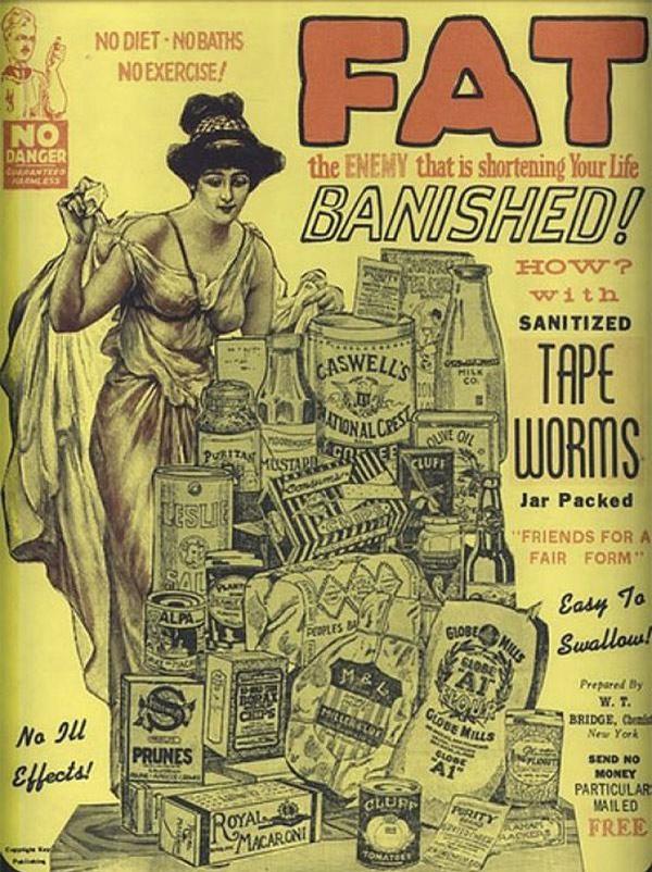 """Hãi hùng những kiểu ăn kiêng """"kinh dị"""" chỉ có trong lịch sử: từ ăn sán dây tới uống giấm - 2"""