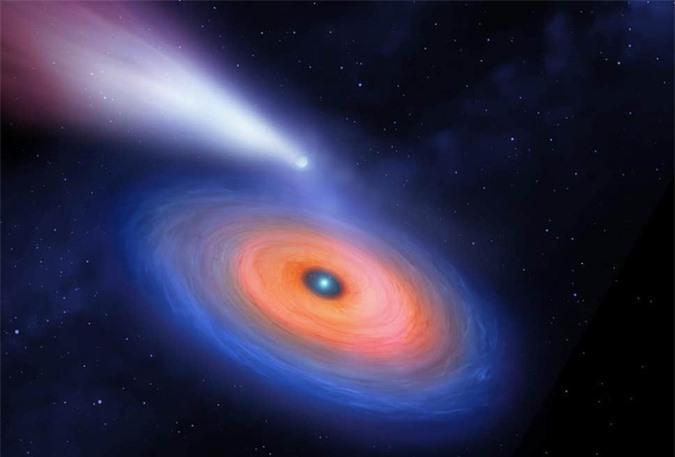 Lần đầu tiên phát hiện hành tinh lạ quay quanh mặt trời chết - Ảnh 1.