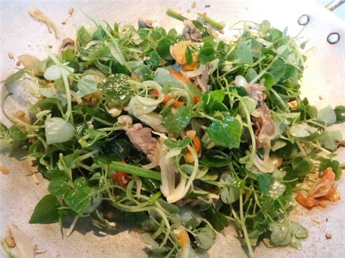 Món ăn chế biến từ rau càng cua