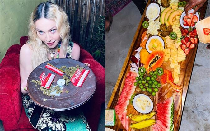 Madonna giới thiệu những sản vật địa phương như cần sa và hoa quả nhiệt đới. Cô từ chối hút cỏ vì muốn giữ gìn giọng hát của mình.