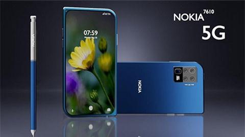 Nokia 7610 5G 2020 bất ngờ xuất hiện với thiết kế hình chiếc lá siêu đẹp, giá bất ngờ