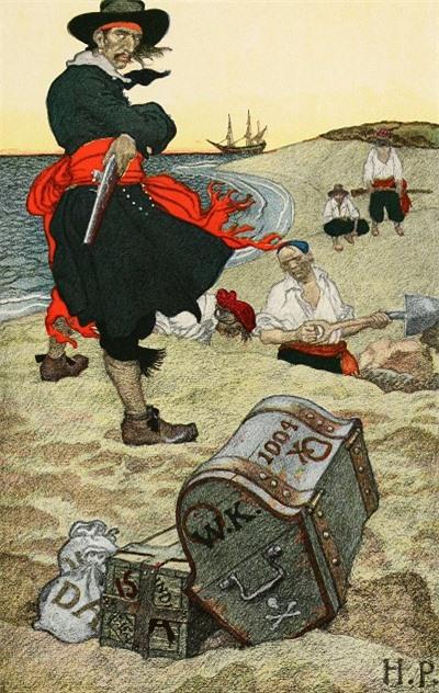 Được chôn giấu từ khoảng năm 1500-1700. Không xác định được giá trị nhưng chắc chắn là một kho báu khổng lồ bởi đó là số vàng bạc tích lũy được của một trong những cướp biển nổi tiếng nhất trong lịch sử.