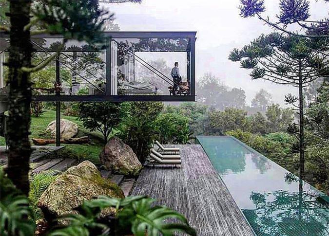 Những ngày qua Chi Bảo kỳ công tìm hiểu, tham khảo ý tưởng xây dựng resort giữa thiên nhiên. Anh muốn công trình của mình vừa mang tính thẩm mỹ cao vừa gần gũi, hài hoà với thiên nhiên.