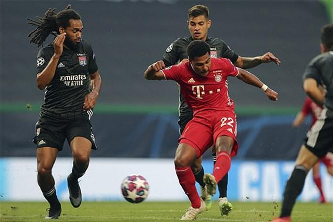 Gnabry dứt điểm chân trái tung lưới Lyon