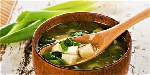 Món súp miso thanh đạm  nhưng rất tốt cho sức khỏe